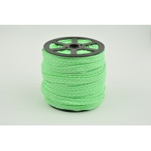 Cotton edging ribbon green dotted