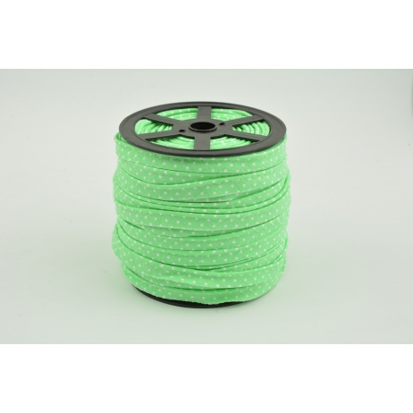 Wypustka bawełniana zielona w kropki