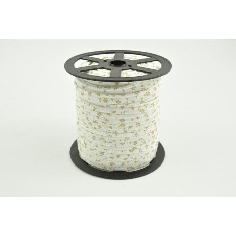 Wypustka bawełniana beżowa łączka na białym tle
