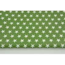 Cotton laminated stars on a dark green background