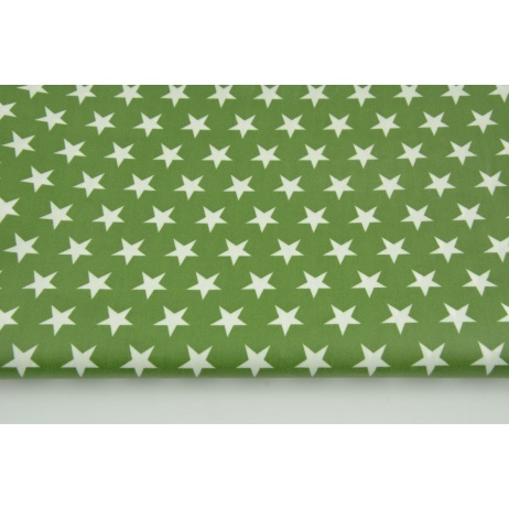 Cotton laminated stars on a dark green background
