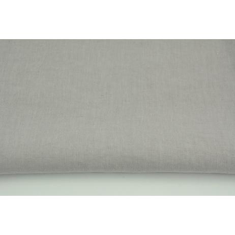 100% plain linen in light gray color, softened 155g/m2 I
