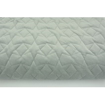 Quilted velvet light gray - stars
