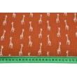 Muślin bawełniany, żyrafy na rudym tle