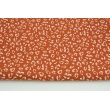 Double gauze 100% cotton white speckles on a ginger background