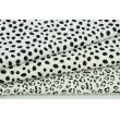 Double gauze 100% cotton black speckles on an ecru background