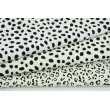 Double gauze 100% cotton black spots on an ecru background