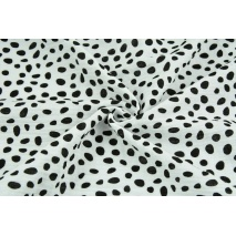 Double gauze 100% cotton black spots on a white background