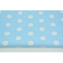 Bawełna 100% kropeczki, kropki 22mm błękitne 2 tło