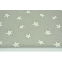 Decorative fabric, stars on a gray bakcground 168 g/m2
