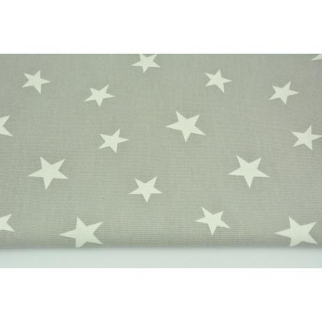 Decorative fabric, stars on a gray bakcground 168 g/m2