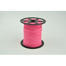 Cotton edging ribbon fuchsia dotted