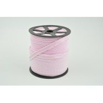 Cotton edging ribbon pink dotted