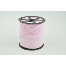 Wypustka bawełniana różowa w kropki