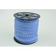 Cotton edging ribbon dark blue dotted