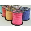 Cotton edging ribbon beige dotted