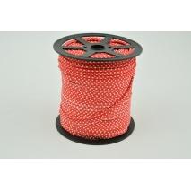 Wypustka bawełniana czerwona w kropki