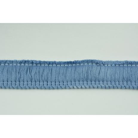 Ribbon with fringes dark blue 3cm