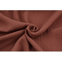 Double gauze 100% cotton plain Indian brown