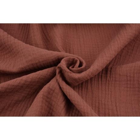 Double gauze 100% cotton plain Indian brown
