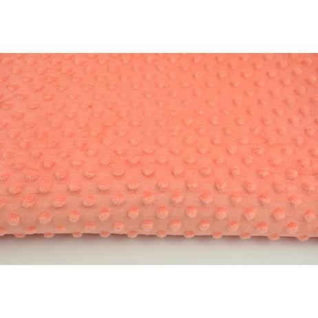 Dimple dot fleece minky in a papaya color 380 g/m2