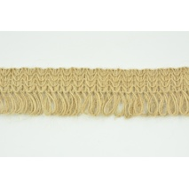 Jute ribbon with fringes 40mm