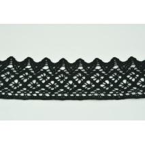 Koronka bawełniana 50mm, czarna