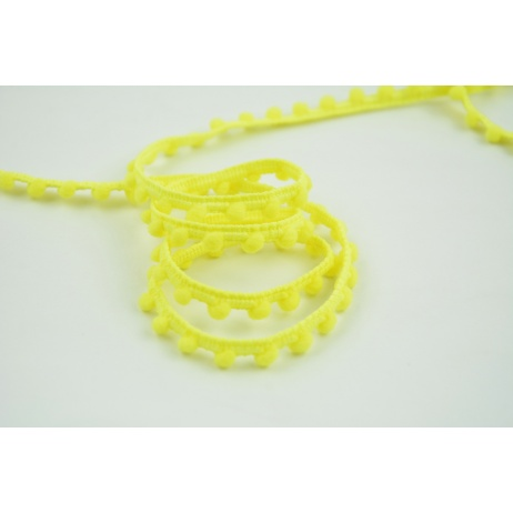 Ribbon bubbles bright yellow