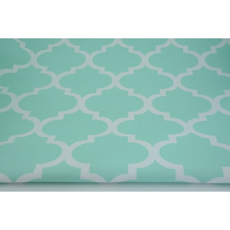HOME DECOR moroccan trellis on mint background