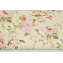 Tkanina dekoracyjna, angielskie róże na kremowym tle 187g/m2