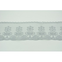 Lace on organza gray 95mm