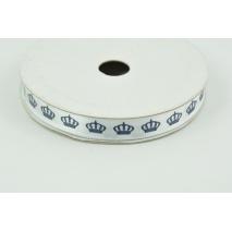 Satin, silky navy ribbon navy crowns 5m