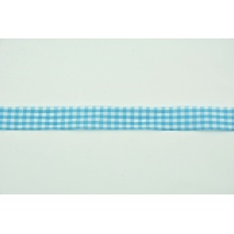 Ribbon turquoise check 12mm