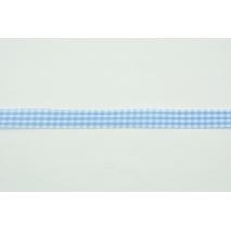 Tasiemka, wstążka krateczka niebieska 12mmx1m
