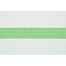 Ribbon dark green check 25mm