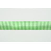 Tasiemka, wstążka krateczka ciemnozielona 25mmx1m
