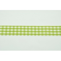 Ribbon green check 26mm