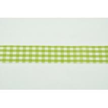 Tasiemka, wstążka krateczka zielona 26mmx1m
