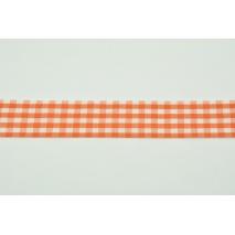 Tasiemka, wstążka krateczka pomarańczowa 26mmx1m