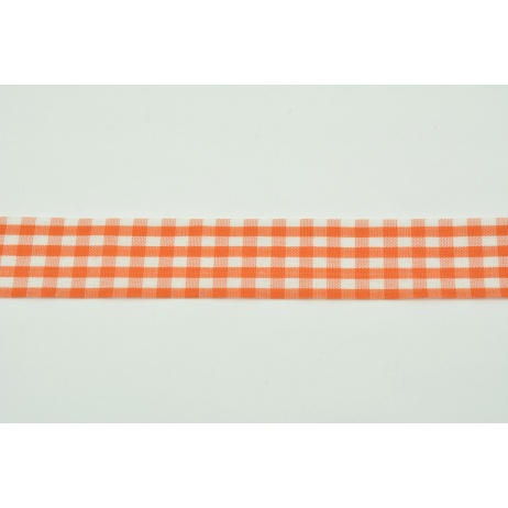 Ribbon orange check 26mm