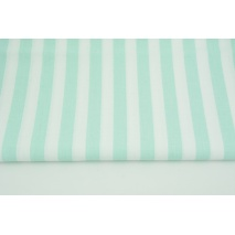 Cotton 100% mint stripes 15mm (lighter shade)