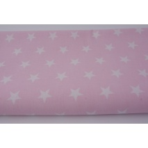 Cotton 100% stars 20mm on a pastel pink background