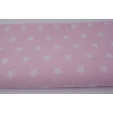 Bawełna 100% gwiazdki 2cm na pastelowym różu