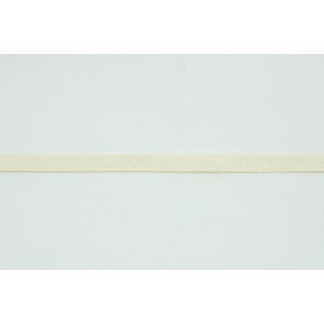 Tasiemka bawełniana jodełka kremowa, naturalna 10mm