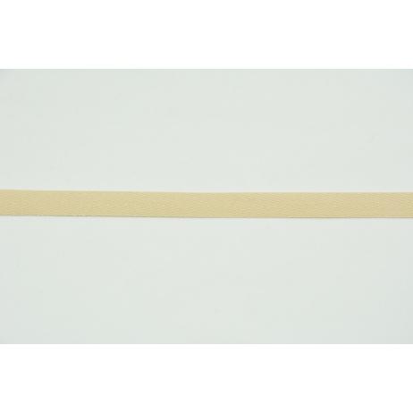Cotton ribbon herringbone beige 10mm