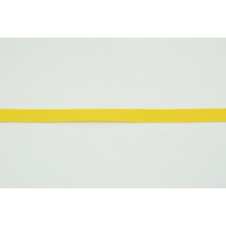 Cotton ribbon herringbone yellow 10mm