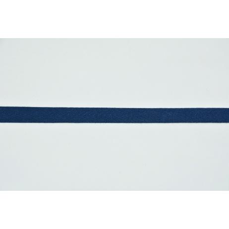 Cotton ribbon herringbone navy 10mm