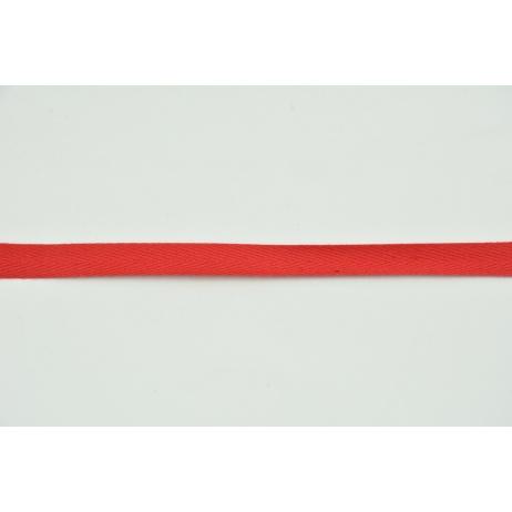 Tasiemka bawełniana jodełka czerwona 10mm
