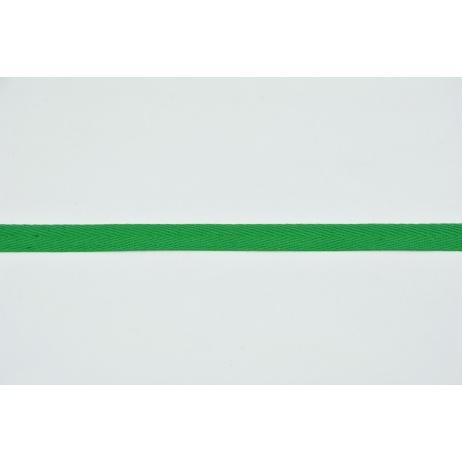 Cotton ribbon herringbone green 10mm