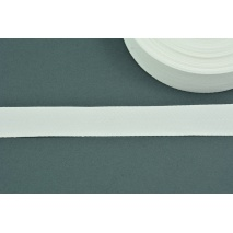Cotton ribbon herringbone white 25mm